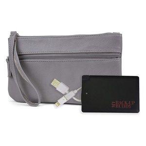 Mundi RFID Wristlet + External Phone Charger Grey